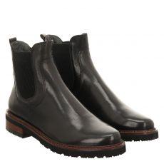 Everybody, Nawra, kurzer Glattleder-Stiefel in schwarz für Damen