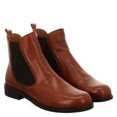 Everybody, Avena, kurzer Glattleder-Stiefel in cognac für Damen