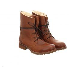 Schuhengel kurzer Glattleder-Stiefel in braun für Damen