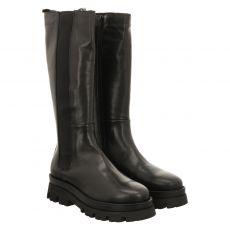 Fraipe hoher Glattleder-Stiefel in schwarz für Damen
