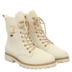 Remonte kurzer Glattleder-Stiefel in weiß für Damen