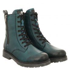 Remonte kurzer Glattleder-Stiefel in blau für Damen