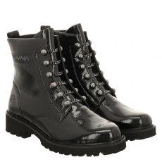 Remonte kurzer Knautschlack-Stiefel in schwarz für Damen