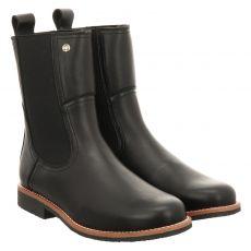 Panama Jack, Igloo Traveling, kurzer Glattleder-Stiefel in schwarz für Damen