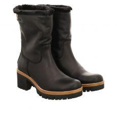 Panama Jack kurzer Glattleder-Stiefel in schwarz für Damen