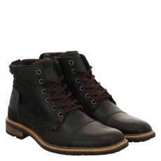Bullboxer eleganter Glattleder-Stiefel in schwarz für Herren