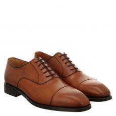 Berwick, Braun, rahmengenähter Glattleder-Schuh in cognac für Herren