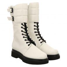 Högl kurzer Glattleder-Stiefel in weiß für Damen