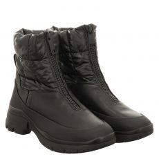 Högl kurzer Glattleder-Stiefel in schwarz für Damen