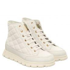Candice Cooper kurzer Glattleder-Stiefel in weiß für Damen