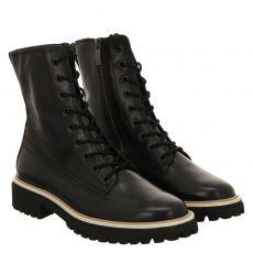 Paul Green, 0069-9890-019/schnürstiefelett, kurzer Glattleder-Stiefel in schwarz für Damen