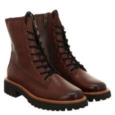 Paul Green, 0069-9768-059/schnürstiefelett, kurzer Glattleder-Stiefel in braun für Damen
