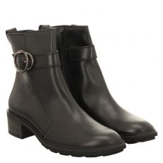 Paul Green, 0069-9930-019/stiefelette, kurzer Glattleder-Stiefel in schwarz für Damen