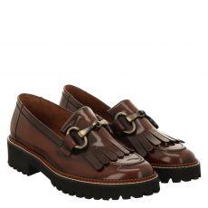 Paul Green, 0069-2901-019/slipper, Glattleder-Pantolette in braun für Damen
