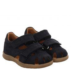 Richter Nubukleder-Sandale in blau für Mädchen