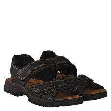 Rieker Kunstleder-Sandale in schwarz für Herren