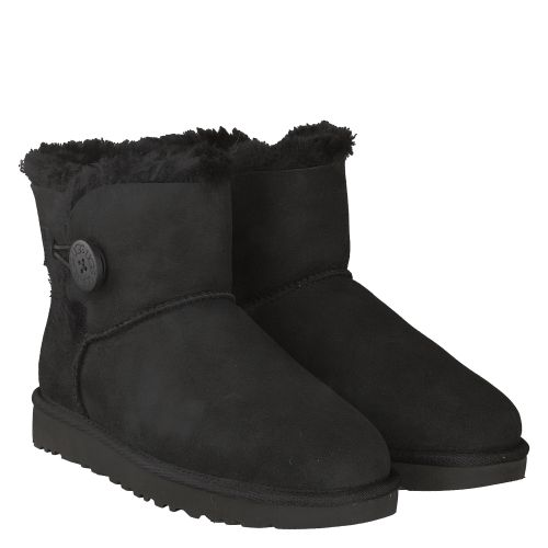 UGG, MINI BAILEY BUTTON, SCHWARZ