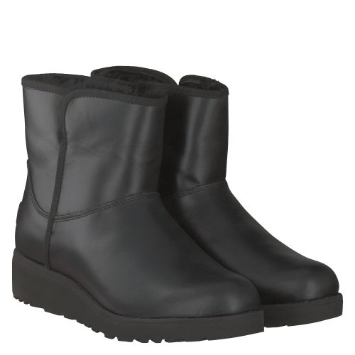 UGG, KRISTIN LEATHER, SCHWARZ