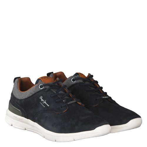 PEPE JEANS, JAYDEN, BLAU 43 | Sneaker für Herren