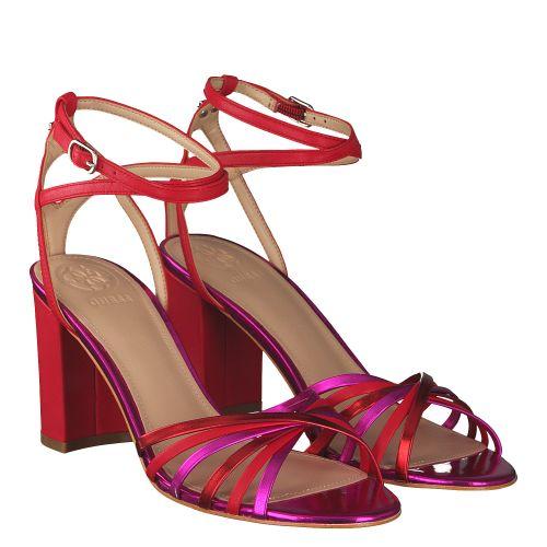 100% authentic c0e42 9b27f GUESS, ROT | Sandaletten für Damen