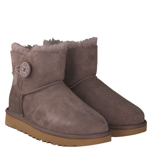 UGG, MINI BAILEY BUTTON, GRAU