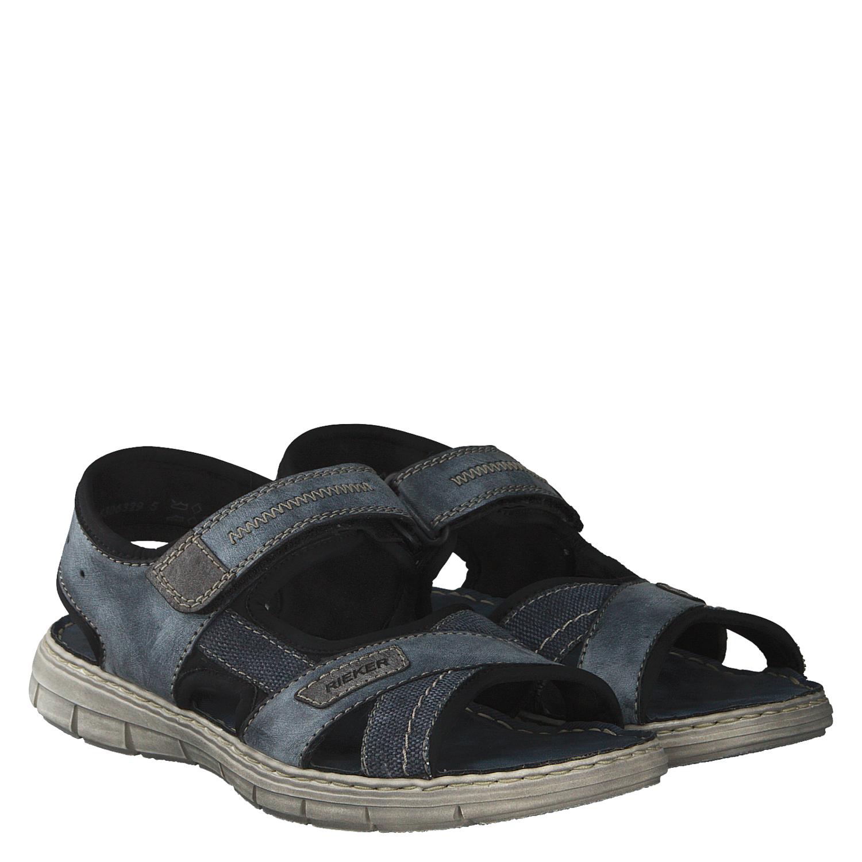 Details zu Rieker Sandalen schwarz Hightech Klettverschluss Outdoor Herren